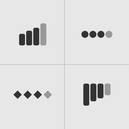 Network - Vector icons. Network icons in flat style for mobile phones