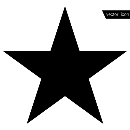 Star - Vector icon. Star black in flat style Illustration