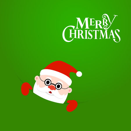 Happy Christmas Santa Claus with text Merry Christmas. Christmas background
