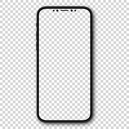 Nuovo design smartphone con schermo vuoto. Illustrazione vettoriale Vettoriali