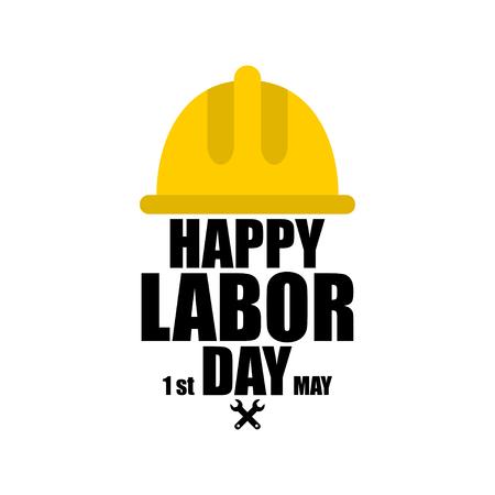Feliz Día del Trabajo. 1 de mayo Día internacional del trabajo Foto de archivo - 99642885