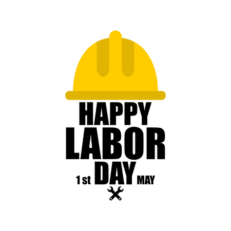 Happy Labor Day. 1 May International labour day Illustration