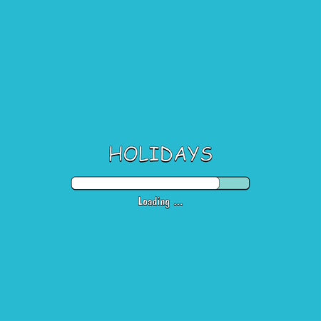 Loading Holidays in comic style, vector illustration Archivio Fotografico - 99643088