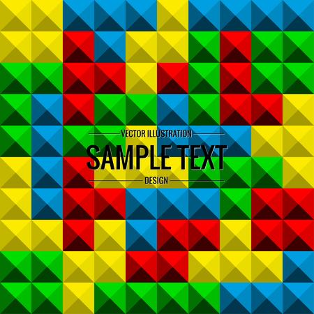 Tetris game background, seamless pattern, vector illustration