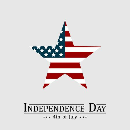 4th of July, Happy American Independence day illustration. Çizim