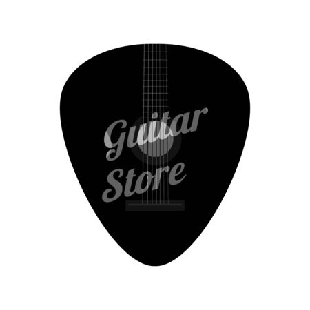 Guitar Pick for Music store symbol