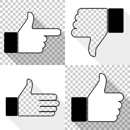 Like icon set, thumb up, vector illustration.
