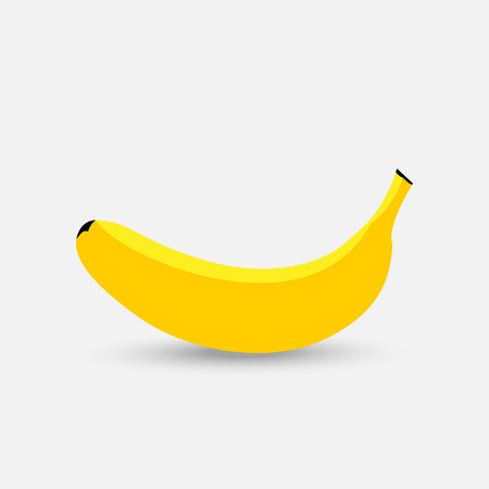 Vector banana. Fresh banana on white background Illusztráció