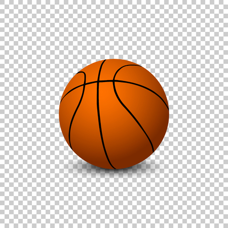 Vector Basketball isolated on blanck background. Vector basketball ball Ilustrace