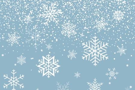 Falling snow and Snowflakes. Winter background. Merry Christmas Illusztráció
