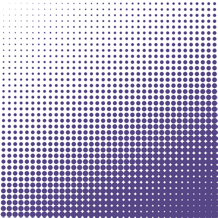 Vector halftone dots background. Ultra violet dots on white background