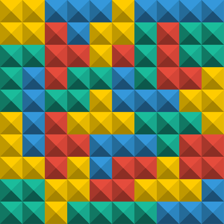 Game Tetris pixel bricks. Seamless pattern background. Colorfull Game background Stock Vector - 114909836