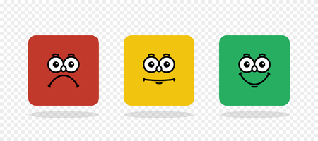 Rating emoji. Feedback vector concept. Feedback in form of emotions, smileys, emoji