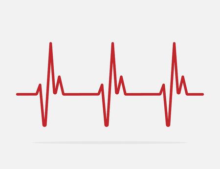 heartbeat line vector icon
