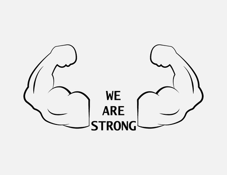 we are strong. strong icon. strong arm icon