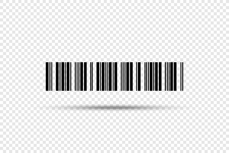 Codice a barre - icona di vettore. Codice a barre su sfondo trasparente Vettoriali