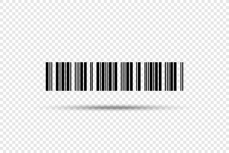 Kod kreskowy - ikona wektor. Kod kreskowy na przezroczystym tle Ilustracje wektorowe