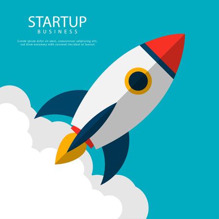 Startup business. Rocket launch
