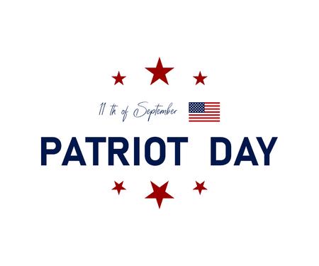 9/11 Patriot Day in de VS. We zullen nooit vergeten. 11 september. Patriot Day poster of het spandoek. Amerikaanse vlag