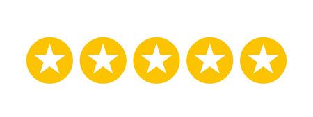 Classement par étoiles pour les applications et les sites Web Vecteurs