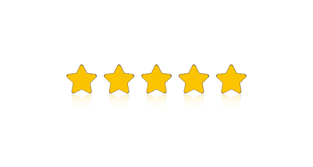 Five stars rating for apps and websites Reklamní fotografie - 111654170