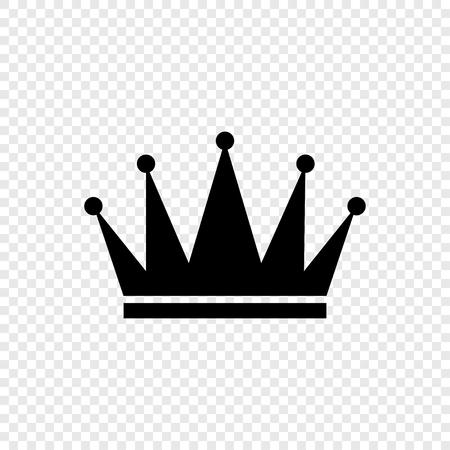 Icono de corona negra sobre fondo transparente