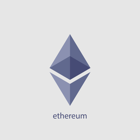 Ethereum vector icon. Ethereum cryptocurrency. Crypto currency blockchain coin ethereum symbol Illustration