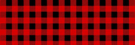 Leñador Buffalo Plaid de patrones sin fisuras. Leñador rojo y negro. Fondo de vector transparente