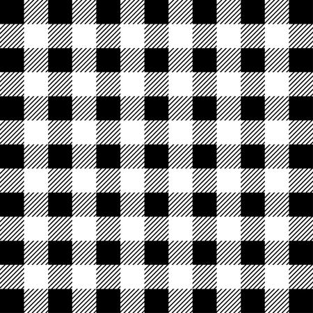 Leñador Buffalo Plaid de patrones sin fisuras. Leñador blanco y negro. Fondo de vector transparente Ilustración de vector