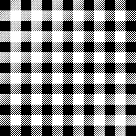 Lumberjack Buffalo Plaid Seamless Pattern. White and Black Lumberjack. Seamless vector background Standard-Bild - 115563102