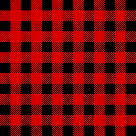 Lumberjack Buffalo Plaid Seamless Pattern. Red and Black Lumberjack. Seamless vector background