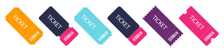 Set of colorful ticket. Blank Template Tickets. Eps10