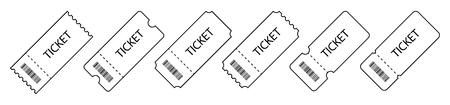 Set of Ticket. Template Tickets. Collection of vintage grunge Tickets and Coupons vector illustrations.