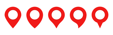 Red Pin map set. Gps Point. Location icons.Map pin icons. Eps10