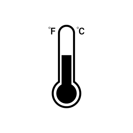Celsius and Fahrenheit Thermometer icon. Vector icon. Eps10