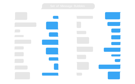 Set of Messages Bubbles in flat design. Chat icons. Messages phone template. Eps10 Illustration