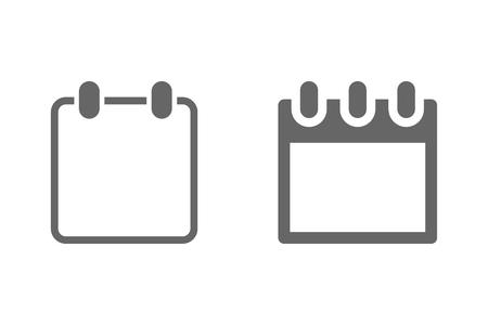 Calendar web icon. Template calendar for your design. Eps10