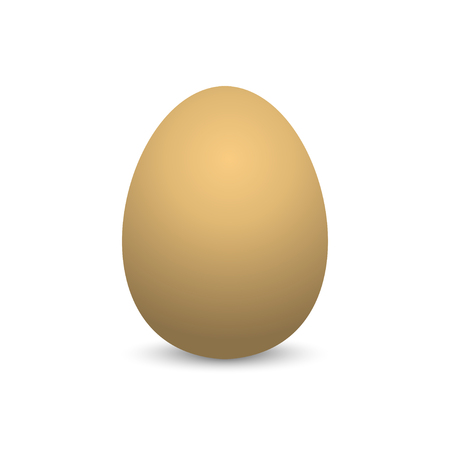 Egg. Realistic Egg with shadow on empty background. Isolated Egg on blank background. Eps10