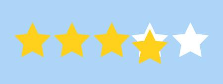 Five star rating, Feedback concept vector illustration flat style. Eps10 Ilustração