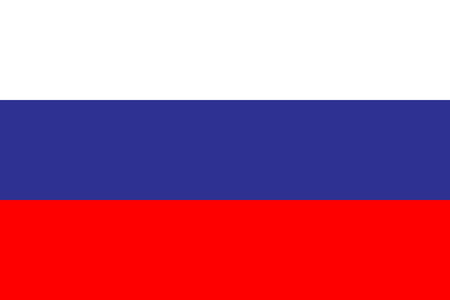 Flag Russia in flat design. Flag Russia background. Eps10