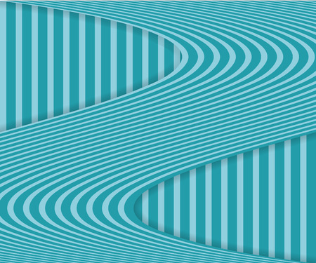 Striped background with wavy stripe and shadow. Abstract background. Eps10