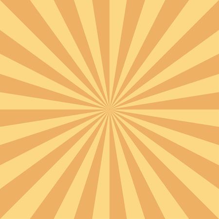Retro sun rays background in orange color. Eps10