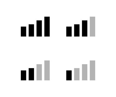Set van netwerk pictogrammen telefoon in plat ontwerp. Eps10