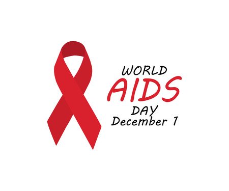 World Aids Day poster or banner in flat design. Eps10