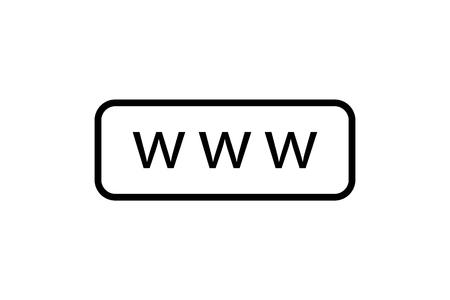 Www search bar icon. Internet icon. www web button. Eps10