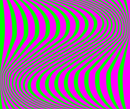 Green background with purple zigzag stripes in flat design. Eps10 Stock Illustratie