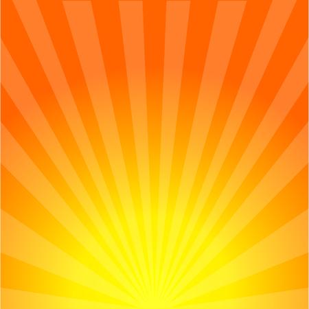 Fond de rayons de soleil. Coup de soleil. Ensoleillement. Coucher de soleil. Soleil d'été. Lever du soleil. Eps10 Vecteurs