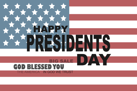 Happy President Day. Poster or banner Presidents day in Usa. Greeting card for President day in America. Eps10