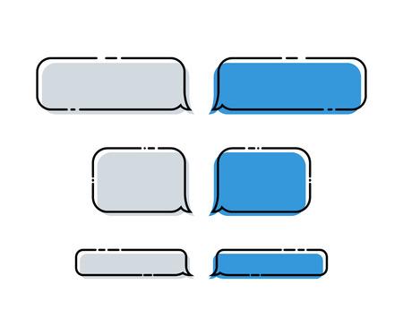 Set of vector Messages Bubbles. Flat Messages Bubbles in trendy style. Messages Bubbles Icons. Eps10