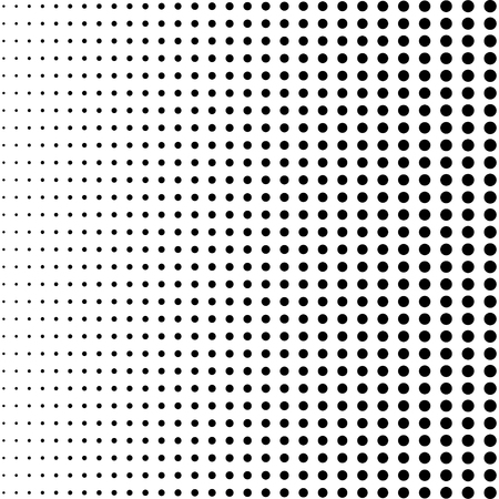 Black halftone dots. Black dots halftone on white background. Eps10